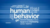 Human Behavior Animated Word Cloud,Text Design Animation. Wideo