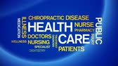 4k Health Care Animated Tag Word Cloud, Text Design Animation, Kinetic Typography. Wideo