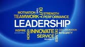 4k Leadership Animated Tag Word Cloud, Text Design Animation, Kinetic Typography. Wideo