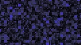 Blue Background with Blocks, the File is Looping (Computer Graphic)