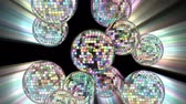 discoteca : Disco mirror balls 4k. Stock Footage