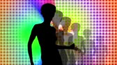 party : Led wall dance silhouette. Stock Footage
