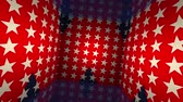 Geometrical 3d backdrop loop with US flag.