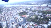 riga aerial footage from open hang-glider video above city Stock Footage