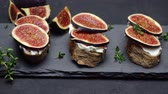 bagietka : Bruschetta with figs and creme goat cheese