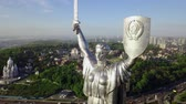 memórias : Drone Video of Mother Motherland monument in Kiev, Ukraine