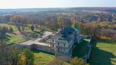 Aerial View of Haunted Castle of Pidhirtsi, Ukraine