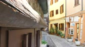 alley wall : the beautiful alley of castelsardo old city - sardinia - italy Stock Footage