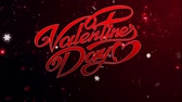 mama : Animation red Text Valentine Day with red sparkle background. Wideo