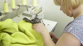 parecer : Woman working with the joint with sewing machine Stock Footage