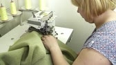 parecer : Woman working with joint with the sewing machine slow motion Stock Footage