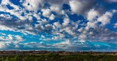 new house : Residential Time Lapse in Western City. a cloud covering time lapse of residential city of Las Cruces in New Mexico during daytime. Stock Footage