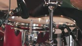 vurmalı : Drum Cymbal Close Up Tilt Down to Snare. a close up angle tilting down from a drum cymbal to a snare