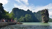 tapu : Thailand Phang-Nga Bay - James Bond Island Stock Footage