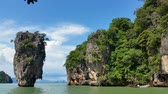 tapu : Thailand - Tropical Paradise of James Bond Island Phang-Nga Bay Stock Footage