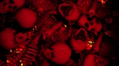skull : The Side Moving Wall Of Skulls animation is a cool, scary background straight outta hell. It perfect to use on VJ thematic sets, metal and gothic festivals, halloween parties or your performances. Stock Footage