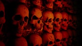 skull : This wall with skulls footage will bring You to Draculas castle with scary dark atmosphere and blinking hell lights. It perfect for use on Halloween, gothic, thematic parties or performances. Have a joy and do not be afraid!