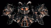 korku : Devil Heads VJ Loop - This motion graphic features a moving devil heads. It is perfect for VJ thematic sets, metal and gothic festivals and Halloween parties. Add this to TV and movie sequences, video games, vlogs, and social media posts. Layers may be ad
