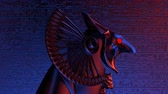 орел : Horus Head VJ Loop - is a stunning ancient motion graphic illustration with a close-up view of Egypt. Perfect to use in the ancient videos, Egypt graphics, thematic VJ sets, futuristic sceneries, movie trailers and much more!