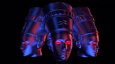 faraon : Nefertiti Heads VJ Loop - is a stunning ancient motion graphic illustration featuring a close-up view of Egypt. Perfect to use in the ancient videos, Egypt graphics, thematic VJ sets, futuristic sceneries, movie trailers and much more!