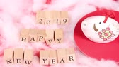 с Новым годом : Happy new year image 2019 Стоковые видеозаписи