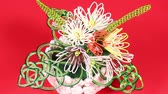 с Новым годом : Japanese artificial flower Стоковые видеозаписи