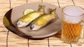 sweetfish : Grilled sweetfish and mug of beer