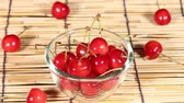alimentos : Sweet ripe cherry Stock Footage