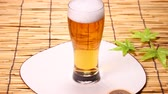 japon : A glass of beer and japanese fan