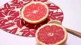 grejpfrut : Red grapefruit and japanese fan