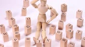 list : Wooden block and wooden doll