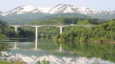 yamagata prefecture : Sagae River and Mt. Gassan