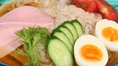 hard boiled eggs : Japanese food, Cold noodles