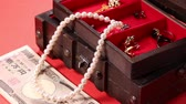 jewelry box : Jewel box, jewelry and bills