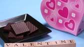 sevgililer : Chocolate and characters of VALENTINE Stok Video