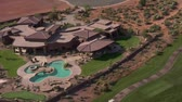 wealthy : Aerial shot of Mansion on desert golf course