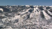 горная вершина : aerial shot of mountains near Park city Utah