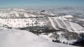горная вершина : aerial shot of ski area with snow