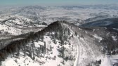 горная вершина : aerial shot of snowy mountains