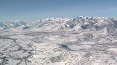 горная вершина : aerial shot of the Heber Valley Utah in winter