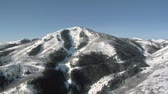 típico : aerial shot of ski area with snow