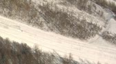 запустить : aerial shot of skier