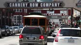 turysta : Cannery Row busy  tourists Monterey California Wideo