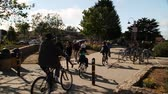 turysta : people ride bicycles on pathway