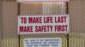 human eye : safety first sign