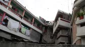 apartamentos : pan across nice apartments in Port-au-Prince Haiti Stock Footage