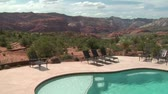 wealthy :  beautiful pool with Redrock desert in distance