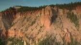 falésias : aerial shot of Bryce Canyon national Park  cliff face