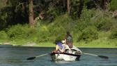 rybář : three men in fly fishing drift boat Dostupné videozáznamy