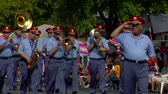 celebration : marching band in parade Wideo